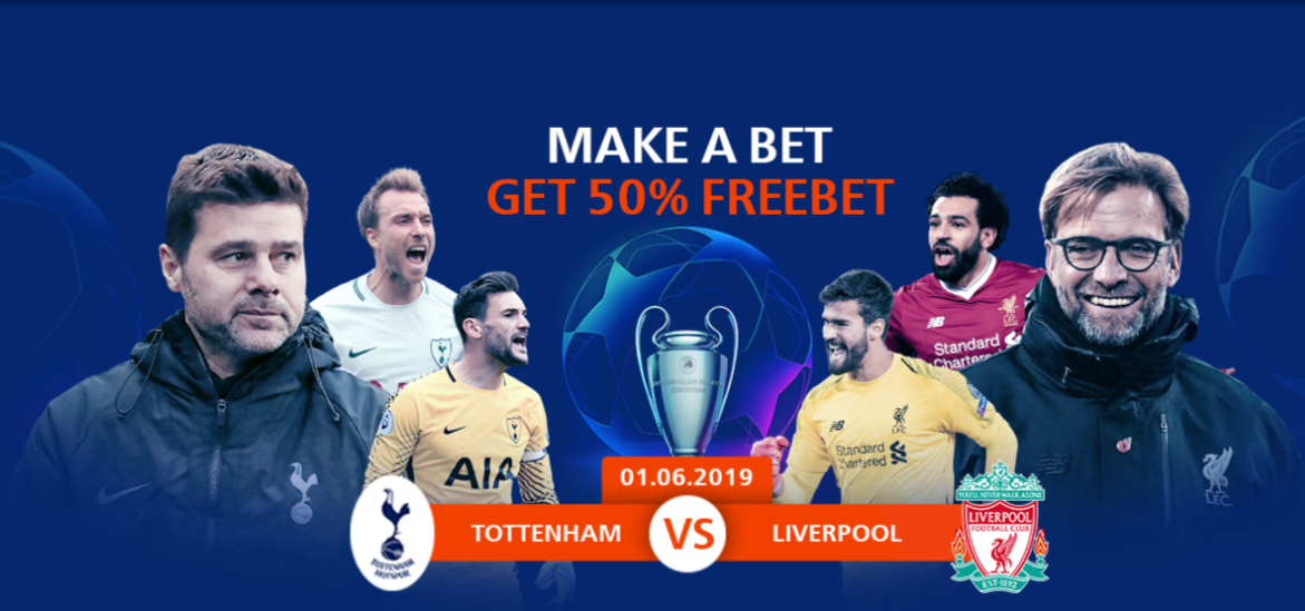 Champions League final: up to 20€ Freebet