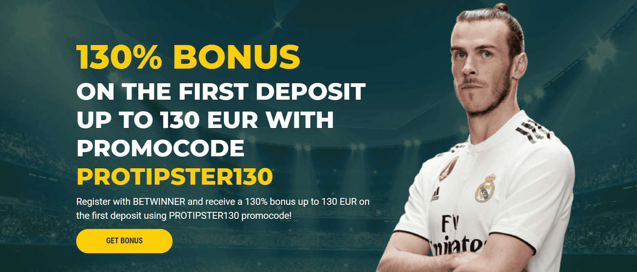 Betwinner Bonus: Get 130% Bonus up to 130 EUR