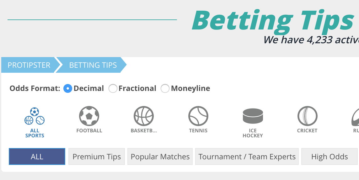 how to convert decimal odds to fractional on ProTipster