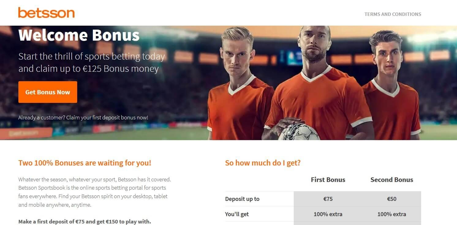 betsson welcome bonus