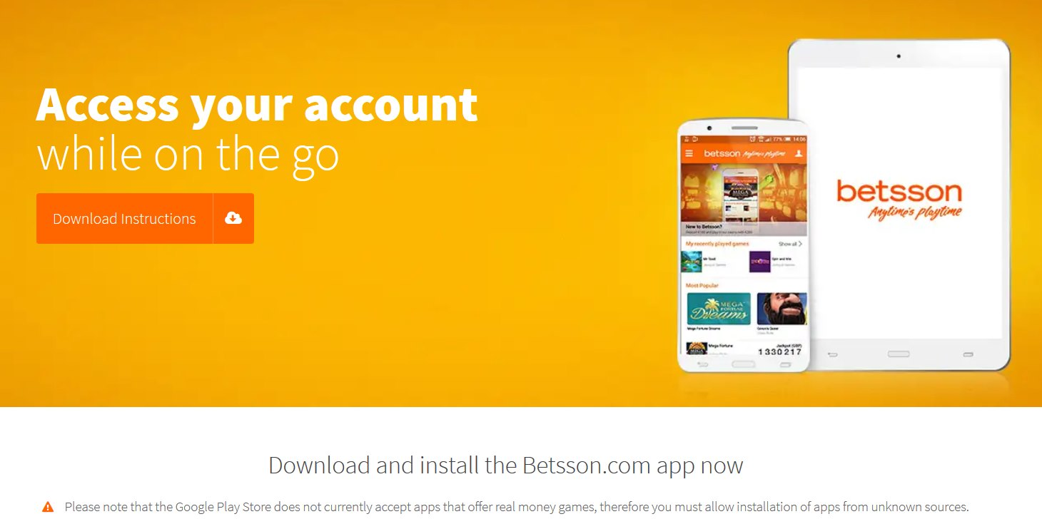 betsson mobile application